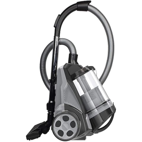 Ovente Heavy Duty Canister Vacuum 3L Dust Cup, Black ST2620B