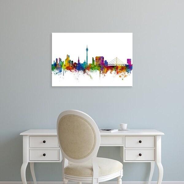Easy Art Prints Michael Tompsett's 'Dusseldorf Germany Skyline' Premium Canvas Art