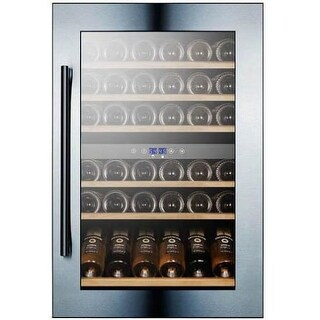 Summit VC60D 59 Bottle 24 Fully Integrated Dual Zone Wine Cooler