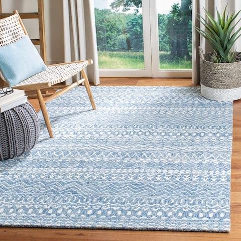 SAFAVIEH Handmade Micro-Loop Ljubica Wool Rug