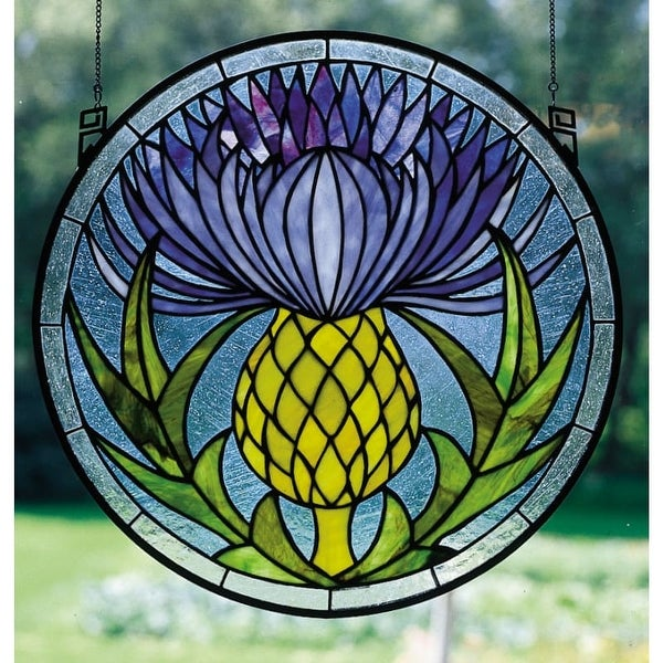 Meyda Tiffany 28436 Stained Glass Tiffany Window from the Woodland Flowers Collection - n/a