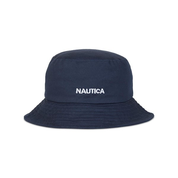 Shop Nautica Mens Bucket Hat Embroidered Logo - o s - Free Shipping ... 50645c3d31fe