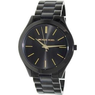 Michael Kors Women's Runway MK3221 Black Stainless-Steel Quartz Fashion Watch