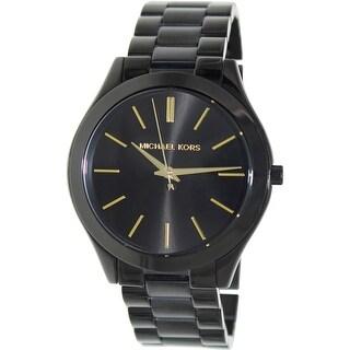 Michael Kors Women's Runway Black Stainless-Steel Quartz Fashion Watch