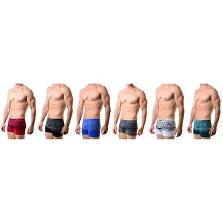 Men's Seamless Boxer Briefs Classic Shorts Shorts Underwear 6-Pack Pattern Tiger(One Size)