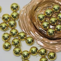 "60ct Vegas Gold Shatterproof Shiny Christmas Ball Ornaments 2.5"" (60mm)"