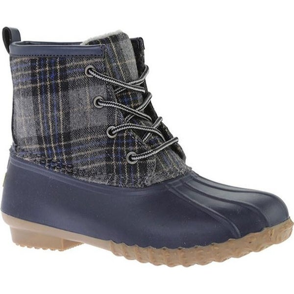 c4a5d3bb31f Shop Portland Boot Company Women s Duck Duck Boot Low Navy Plaid ...
