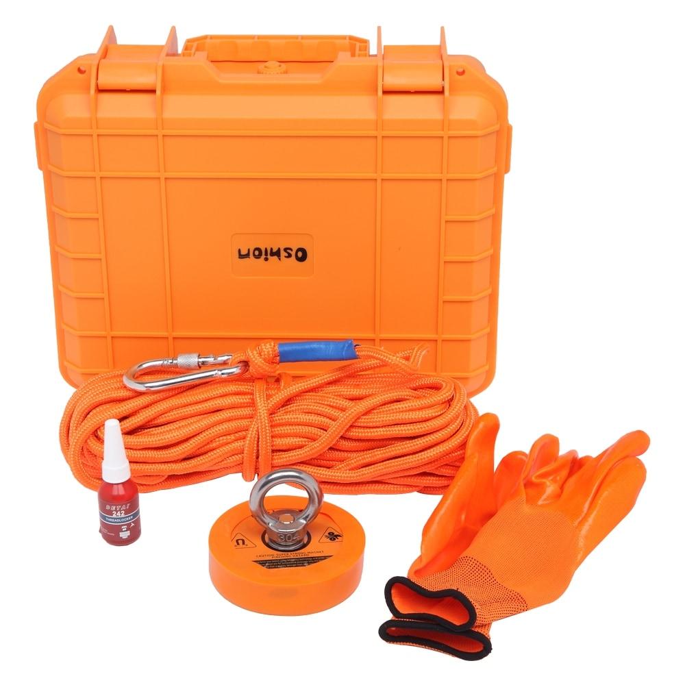 Details about  /1100lb Salvage Magnetic Set Orange Drop-Resistant PP Plastic Box Magnet Rope