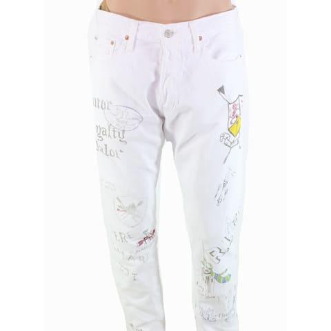 Polo Ralph Lauren Mens Jeans White Size 38X32 Classic Straight Leg