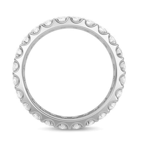 Eternity Wedding Band 1.40 CT Diamond Ring Round 14K Gold