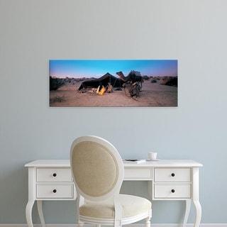 Easy Art Prints Panoramic Images's 'Bedouin Camp, Tunisia, Africa' Premium Canvas Art