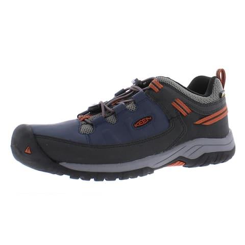 Keen Boys Targhee Low Hiking Shoes Waterproof Slip On - Blue Nights/Rooibos Tea - 7 Medium (D) Big Kid