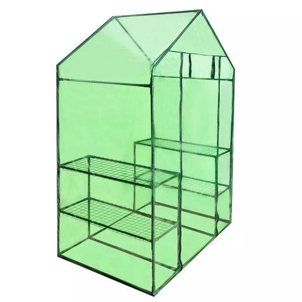 4 Shelves Greenhouse Portable Mini Walk In Outdoor Garden Green House 2 Tier. Opens flyout.