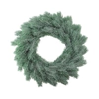 "16"" Decoratively Frosted Green Pine Artificial Christmas Wreath- Unlit"