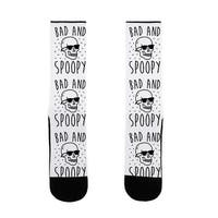Bad And Spoopy US Size 7-13 Socks by LookHUMAN