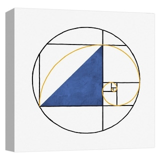 "PTM Images 9-124662  PTM Canvas Collection 12"" x 12"" - ""Mondrian Circle II"" Giclee Patterns and Designs Art Print on Canvas"
