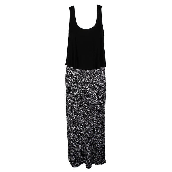 Connected Black White Popover Racerback Maxi Dress 6