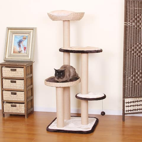 Petpals-Multi-Level Cat Condo Activity Tower for your Pet Cats