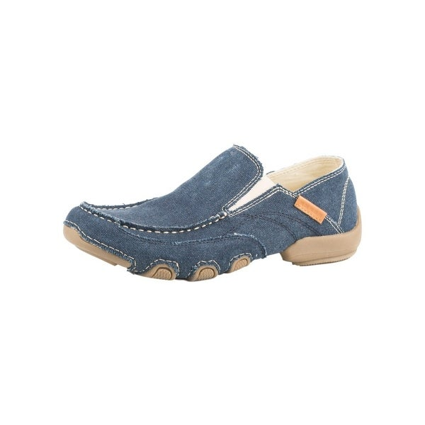 Roper Western Shoes Mens Canvas Slip On Dougie
