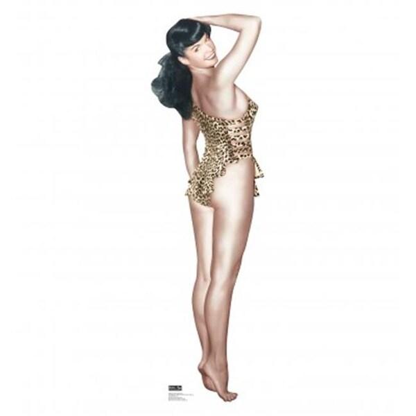 Advanced Graphics 1609 Bettie Page - Leopard Bikini Cardboard Standup