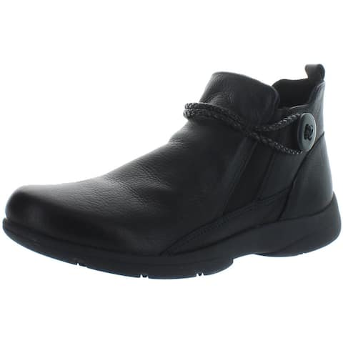Easy Spirit Womens Jagger Ankle Boots Leather Braided