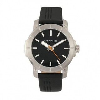 Morphic M54 Series Men's Quartz Watch, Genuine Leather Band, Luminous Hands