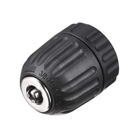 "3/8inch Keyless Drill Chuck Adapter for 3/8"" -24UNF Mount to 0.8-10mm Drill Bit - 0.8-10mm Keyless Chuck"
