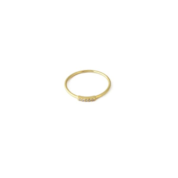 Honeycat Mini Crystal Row Ring