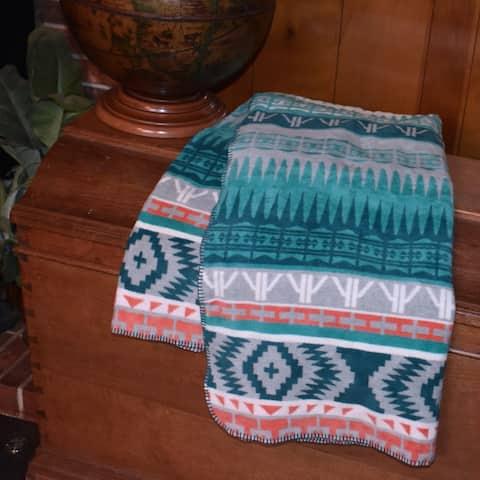 Southwestern Colorful Deluxe Velour Blanket Throw Mojave by IBENA