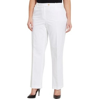 Calvin Klein Womens Plus Dress Pants Modern Fit Khaki
