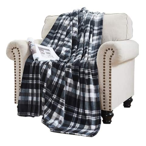 Elle Home Plush Oversized Throw Blanket - Silky Soft Flannel Fleece, Soft and Cozy, for Bed and Couch