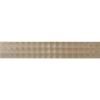 "Daltile RE318CP Render Metals - 18"" x 3"" Rectangle Wall Tile - Textured Metal Vi"