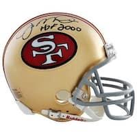 Joe Montana signed San Francisco 49ers Full Size Proline TB Helmet HOF 2000 Montana Hologram