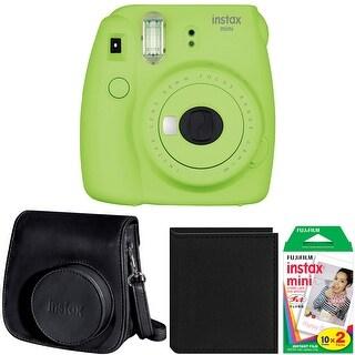 Fujifilm Instax Mini 9 (Lime Green) w/ Groovy Case & Film Bundle