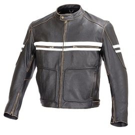 Men Motorcycle Vintage Hand Buffed Leather Armor Jacket Black MBJ031