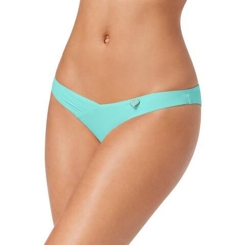 Body Glove Womens Juniors Alani Cheeky Shirred Swim Bottom Separates - Seafoam