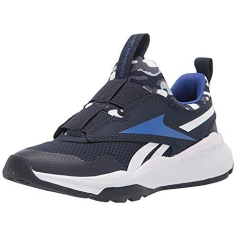 Reebok Boy's XT Sprinter Running Shoe, Vector Navy/Classic Cobalt/White