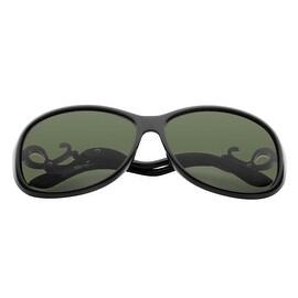 Zodaca Women Fashion 61-mm Lens Polarized 100% UV UV400 Colored Rhinestone Gold Decorative Bent Arm Sunglasses
