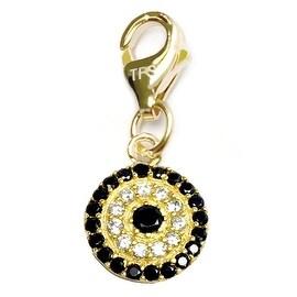 Julieta Jewelry Lucky Eye Round Color CZ Clip-On Charm