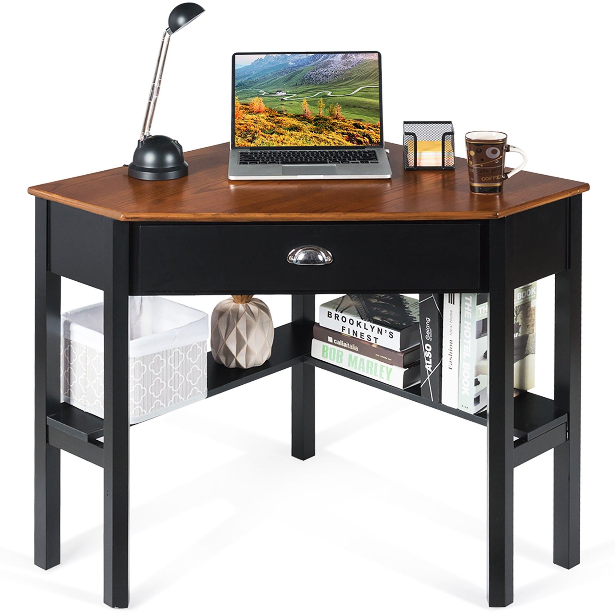 Corner Computer Desk Wood Compact Home Office Desk On Sale Overstock 31677632