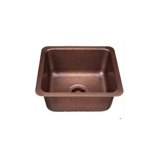 "Signature Copper BDC-171508 Prato 17"" Single Basin Drop In / Undermount Copper Bar Sink"
