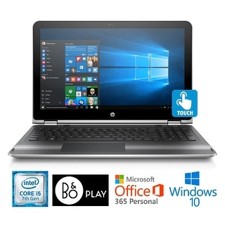 "HP Pavilion 15, Core i5-7200U, 15.6"" HD Touch Screen, 12 GB, Office 365 Notebook - Brown/Grey"