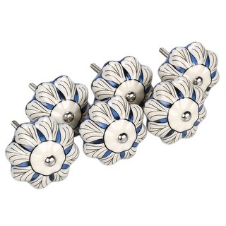 6PCS CERAMIC KNOBS Drawer Pulls Cupboard Handles Door Vintage Shabby Chic