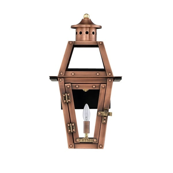 Primo Lanterns OL-15E Orleans 16 1-Light Outdoor Wall-Mounted Lantern in Electric Configuration - Copper - n/a