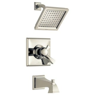 Delta T17451-WE Dryden Pressure Balanced Tub and Shower Trim Package with 2.0 GPM Single Function Shower Head and Touch Clean