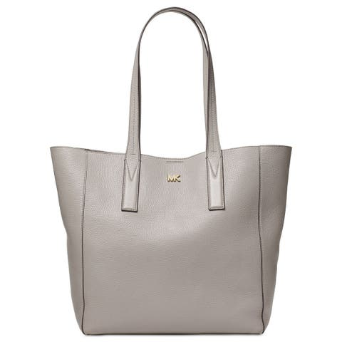 c70754ab2fc0 MICHAEL Michael Kors Junie Pebble Leather Extra Large Tote Bag Pearl Grey