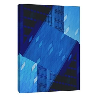 "PTM Images 9-106038  PTM Canvas Collection 10"" x 8"" - ""Folded Architecture 14"" Giclee Abstract Art Print on Canvas"