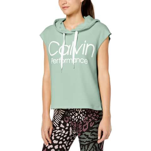 Calvin Klein Performance Womens Hoodie Cropped Yoga