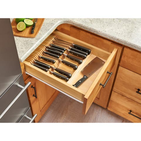 "Rev-A-Shelf 4WDKB-1 4WDKB Series 18-1/2"" Trimmable Cutlery Tray with Space for 55 Knives"