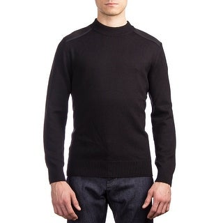 Moncler Men's Wool Crewneck Sweater Black